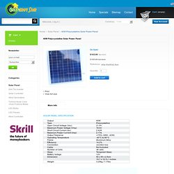 40W Polycrystalline Solar Power Panel - GreenergyStar Grid Tie Inverter, Grid Power III 600W, For Solar & Wind Hybrid Systems