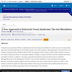 A New Approach to Polycystic Ovary Syndrome: The Gut Microbiota: Journal of the American College of Nutrition: Vol 0, No 0