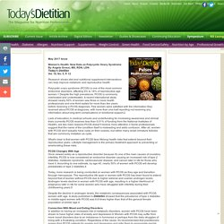 New Data on Polycystic Ovary Syndrome - Today's Dietitian Magazine