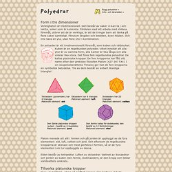 Polyedrar + M = matte + UR