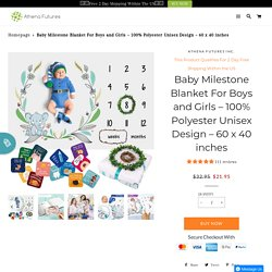 Buy Polyester Unisex Design Milestone Blanket For The Boy – Athena Futures Inc.