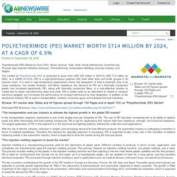 Polyetherimide (PEI) Market worth $714 million by 2024, at a CAGR of 6.5%