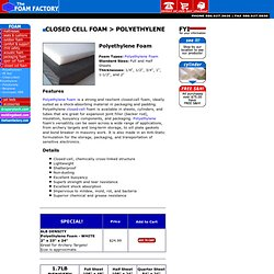 Polyethylene Foam, Roll, Tubes, Polyethylene Closed Cell Foam Sheets