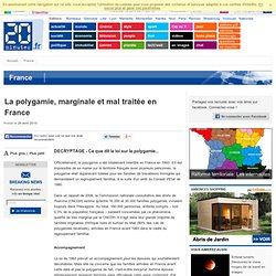 La polygamie, marginale et mal traitée en France