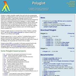 Polyglot extensible compiler framework