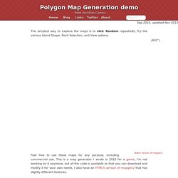 Polygon Map Generation demo