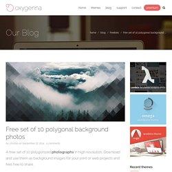 Free set of 10 polygonal background photos