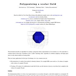 Polygonising a scalar field (Marching Cubes)