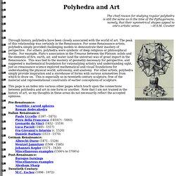 Polyhedra and Art