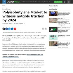 Polyisobutylene Market to witness notable traction by 2024