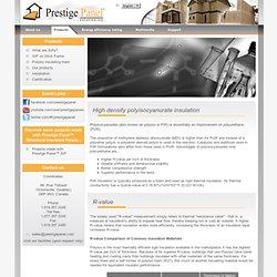 Polyisocyanurate high density insulation foam