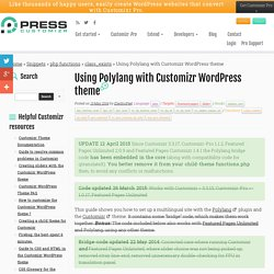 Using Polylang with Customizr WordPress theme - Press Customizr