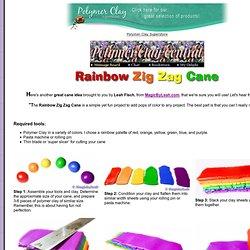 Rainbow Zig Zag Cane