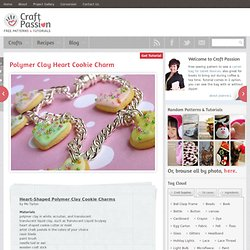 Polymer Clay Heart Cookie Charm, Free Pattern & Tutorial
