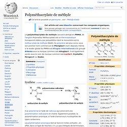 Polyméthacrylate de méthyle