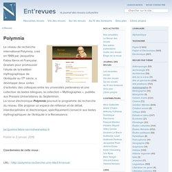 Polymnia - Ent'revues, le site des revues culturelles