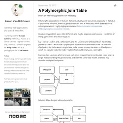 A Polymorphic Join Table - Aaron Van Bokhoven
