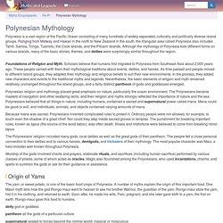 Polynesian Mythology - Myth Encyclopedia - god, legend, war, world, creation, life, hero, people, children