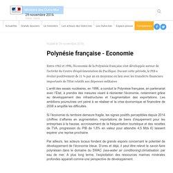Polynésie française - Economie