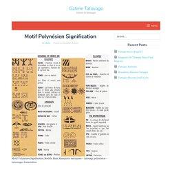 Motif Polynésien Signification - Galerie Tatouage