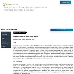 Polyols Prices, Market & Analysis