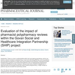 Evaluation of the impact of pharmacist polypharmacy reviews within the Govan Social and Healthcare Integration Partnership (SHIP) project