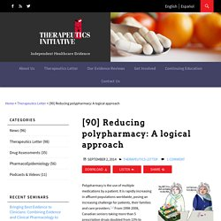[90] Reducing polypharmacy: A logical approach