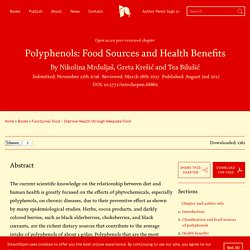 INTECH - AOUT 2017 - Polyphenols: Food Sources and Health Benefits.