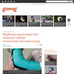 PolyPower electrostatic film measures athletic movements, harvests energy