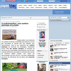 Le polypropylène : une matière plastique recyclable
