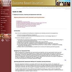 Outcome-Based Education - The Hong Kong Polytechnic University
