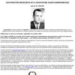 LES POLYTECHNICIENS ET L'AVENTURE SAINT-SIMONIENNE
