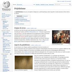 Polythéisme