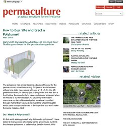 How to Buy, Site and Erect a Polytunnel