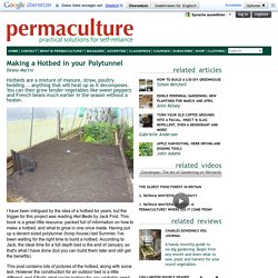 Making a Hotbed in your Polytunnel