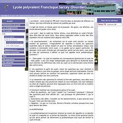 Lycée polyvalent Francisque Sarcey (Dourdan) - TPE: mode d'emploi