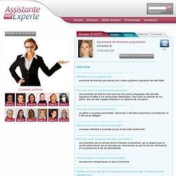 CV ASSISTANTE DE DIRECTION POLYVALENTE - Interview dossier 42371, sur Assistante Experte, CV et Offres d'emploi des Meilleures Assistants et Assistantes