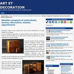 Meubles compacts et polyvalents, bureau, décoration, maison, appartement