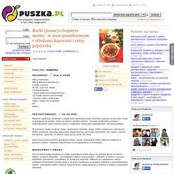 Rurki (penne) o bogatym smaku - w sosie pomidorowym z oliwkami, kaparami i ostrą papryczką