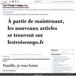 «Cet enfant», deJoëlPommerat (critique), ThéâtredesBouffes-du-Nord àParis