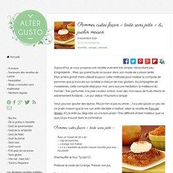Pommes cuites façon « tarte sans pâte »