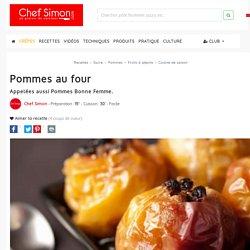 Pommes au four - recette des pomme au four ou pommes bonne femme