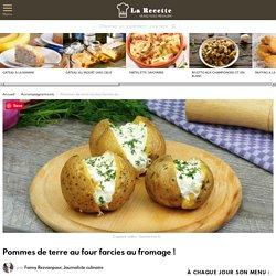 Pommes de terre au four farcies au fromage !