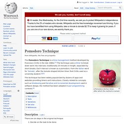 Pomodoro Technique - Wikipedia