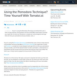 Using the Pomodoro Technique? Time Yourself With Tomatoi.st: Online Collaboration «