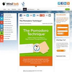 The Pomodoro Technique® » Mind Tools Blog