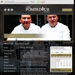 Chefs at The Pompadour Restaurant in Edinburgh Chris and Jeff Galvin both with coveted Michelin stars