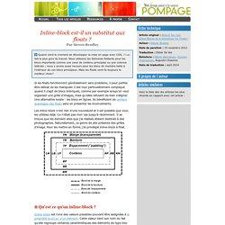 Pompage.net - Inline-block est-il un substitut aux floats ?