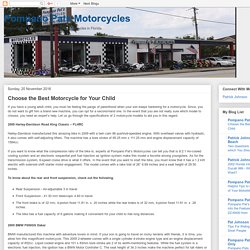 Pompano Pats Motorcycles: Choose the Best Motorcycle for Your Child