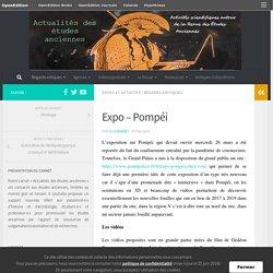Expo – Pompéi – Actualités des études anciennes